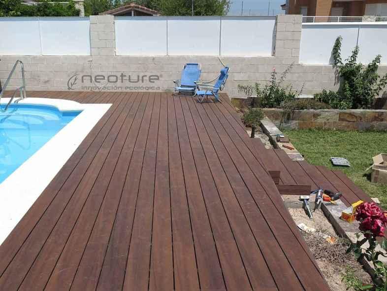 Tarima tecnologica para exterior neocros for Tarima piscina