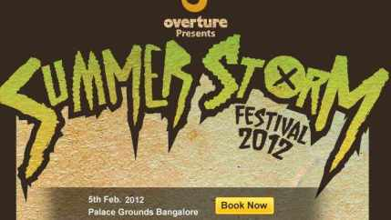opeth in summer storm festival in india 2012
