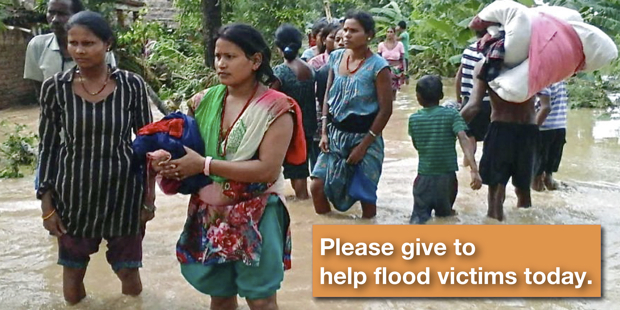 Please give to help flood victims today.