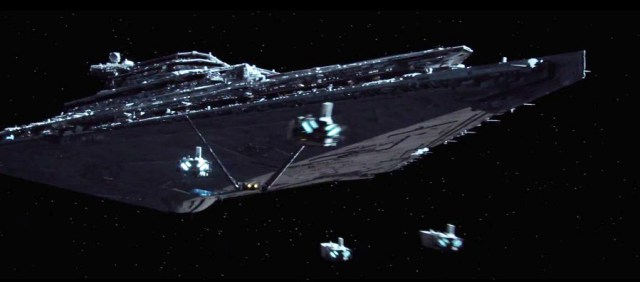 The only Star Destroyer we see in the movie.