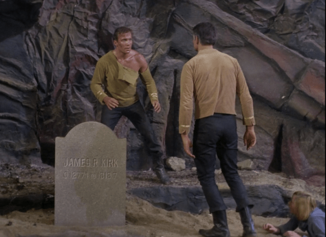 The final fight with Kirk and Mitchell.