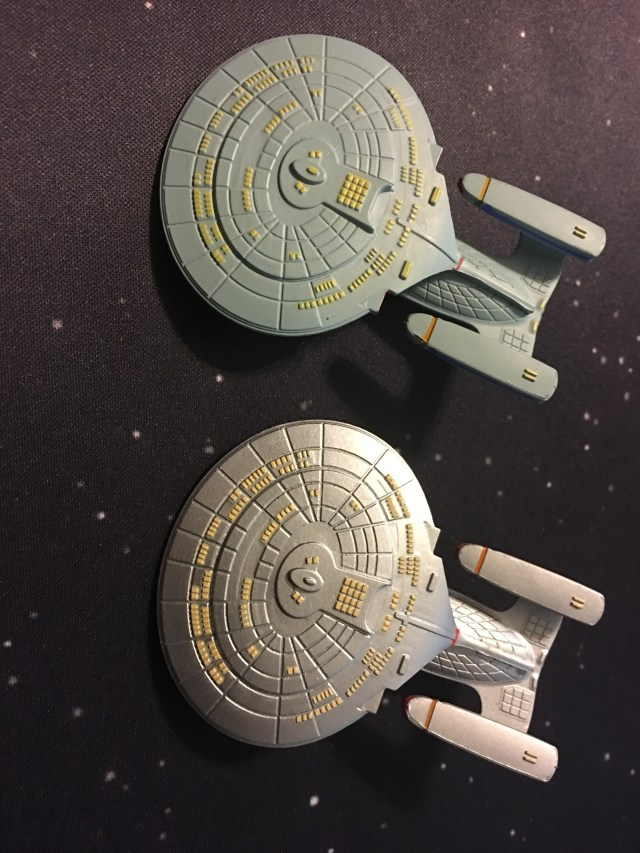 Galaxy class old and new paints.