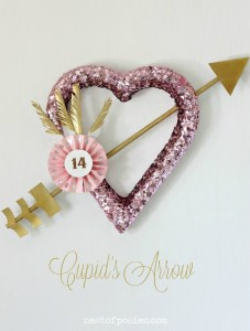 Cupid's Arrow Wreath via Nest of Posies