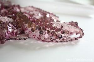 Pink Sequins Trim via Nest of Posies
