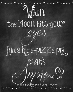 When the Moon hits your Eyes #Chalkboard #Printable via Nest of Posies #Valentines