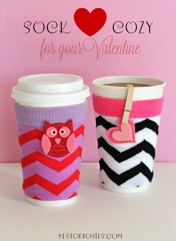 Make a SOCK cozy for your #Valentine via Nest of Posies