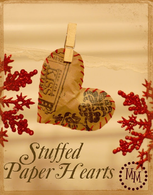 Stuffed Paper Hearts