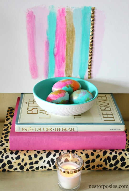Shallow thrift store bowls turned into Nesting Bowls for home decor #via @NestofPosies #DIY