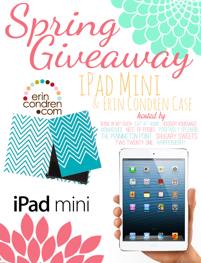 Win an iPad mini & case via Nest of Posies