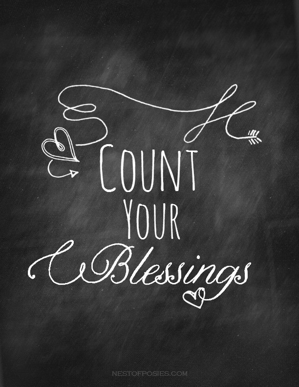 Count Your Blessings Chalkboard Printable