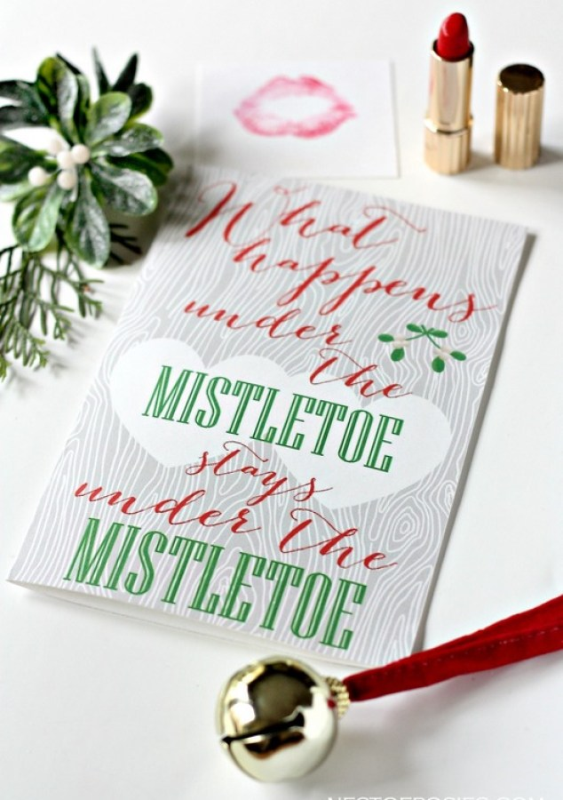 Free Printable Mistletoe Love Note