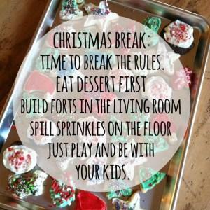 The Joys of Christmas Break.