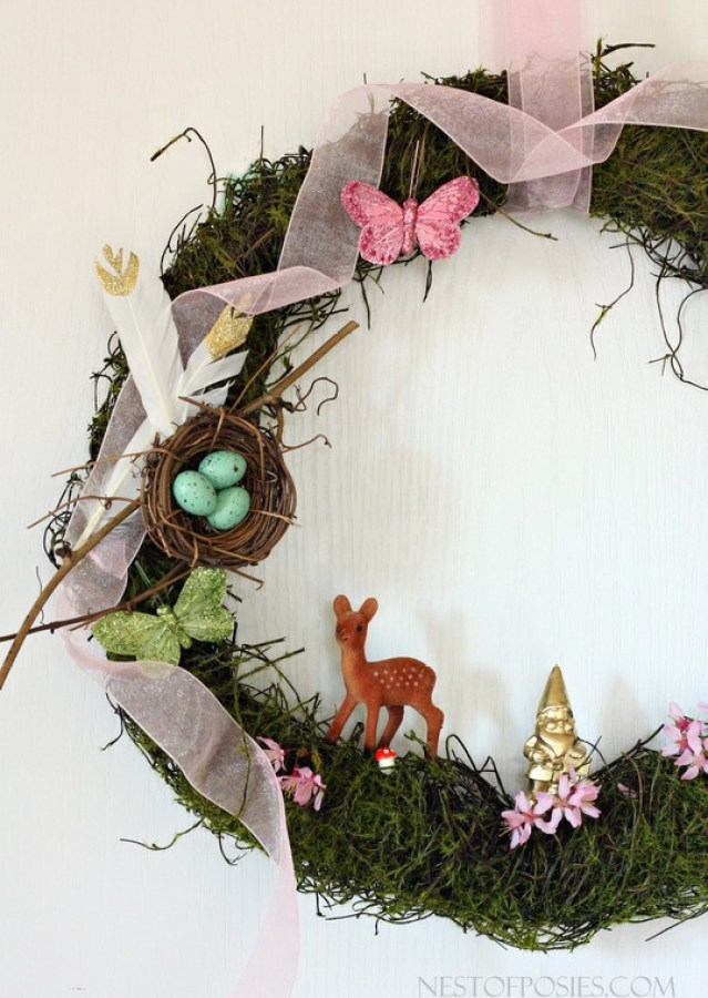Celebrating everything Spring.  Spring Forest Wreath