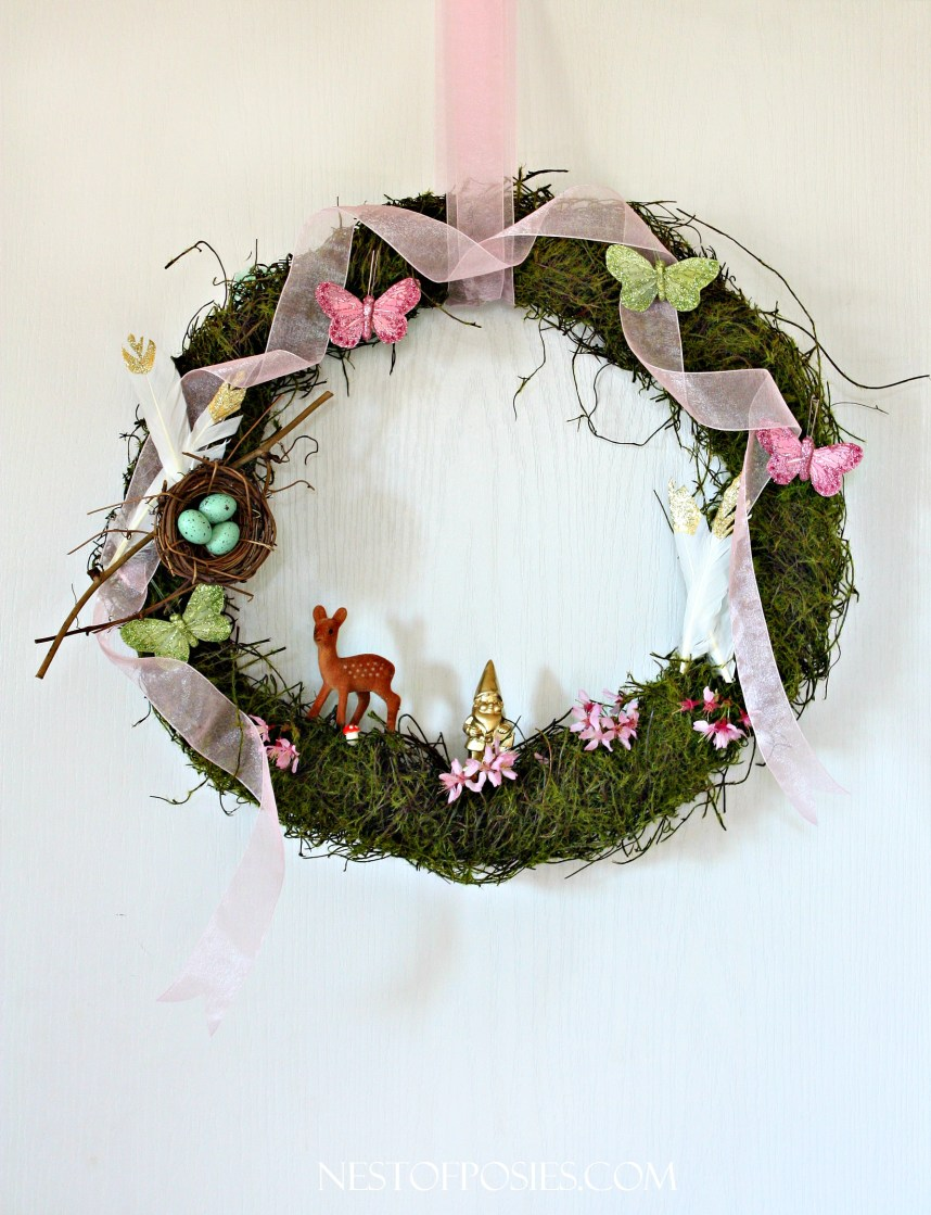 In the Spring Forest.  A wreath celebrating Spring