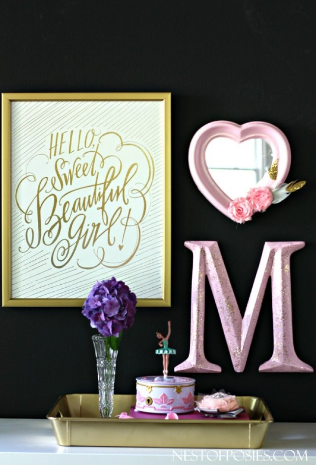 Fun DIY Accessories for a Girl's Room