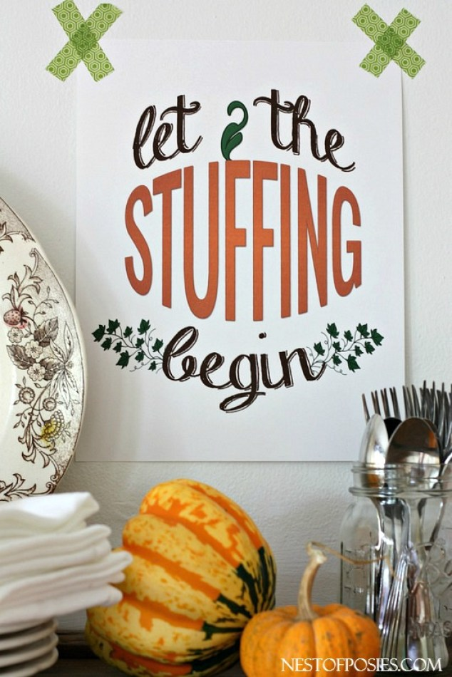 Thanksgiving Buffet Style Dinner Printable