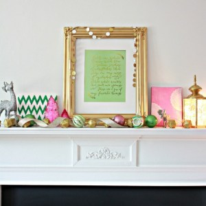 Favorite Things Christmas Mantel and Printable
