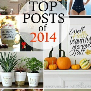 The Top Posts of 2014 according to Pinterest.  Including home decor, fashion, crafts, printables, yummy food and so much more.