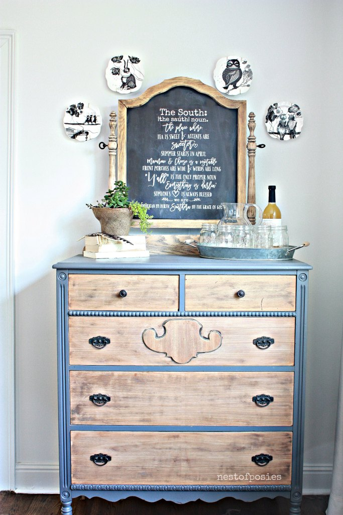Chalkboard Dresser Buffet – Thrifty under $50