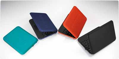 samsung go netbook n310 in turquoise blue orange black
