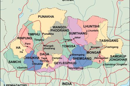 map of bhutan pictures to pin on pinterest