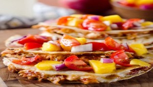 Delicious BBQ Quesadillas with Pineapple-Mango Guacamole and Grilled Scallops Recipe