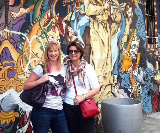 Jacqui and Sue on New York City Graph tour