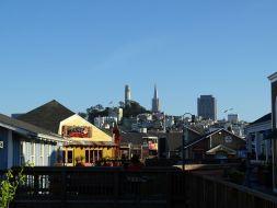 Pier 39 - Blick auf Telegraph Hill