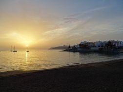 Sonnenuntergang in Arguineguín