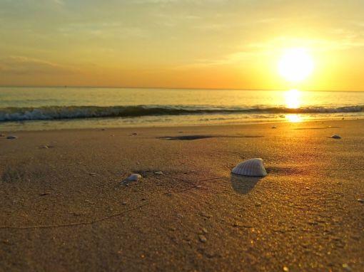 Sonnenuntergang am Strand von Sanibel Island