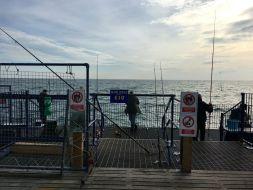 Angler am Eastbourne Pier