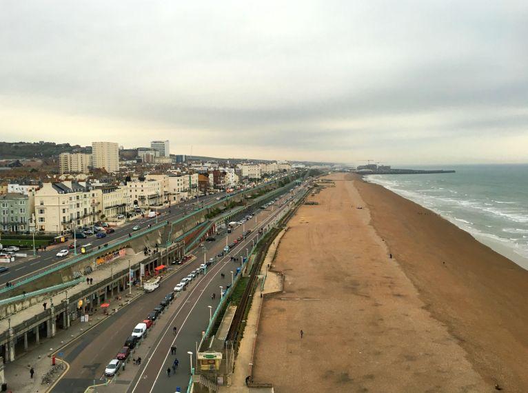 Blick auf Brighton vom Brighton Wheel