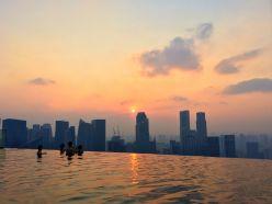 Sonnenuntergang Singapur