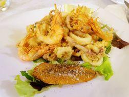 Secondi - Frittierte Fischplatte