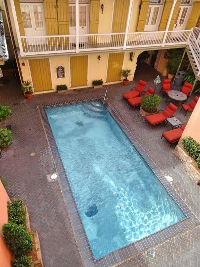 Pool im Innenhof, Dauphine Orleans Hotel