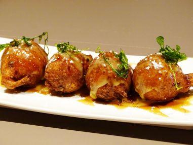 Sweet Potato and Black Pepper Beignets with Foie Gras Fondue
