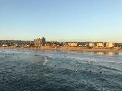 Surfer am Pacific Beach