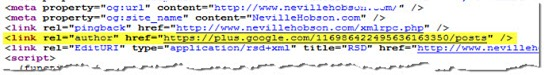 Meta tag code for Google+ author rank
