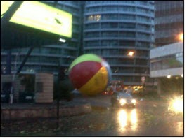 Giant beach ball on the loose...