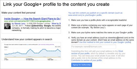 Google+ author rank