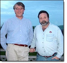 FIR co-hosts (l to r) Neville Hobson and Shel Holtz pictured in Concord, California, on March 4, 2006.