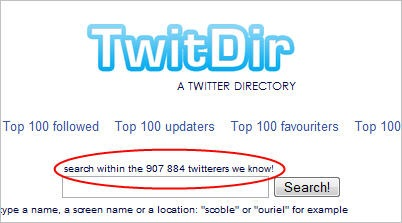 twitdirnumbers
