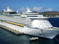 Adventure of the Seas docked at Port Zante in St. Kitts (1)