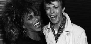 SUPPORTIVE: David Bowie pictured with fellow singer, Tina Turner