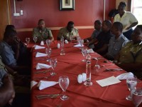 Commissioner Queeley and officers of the RSCNPF at Commissioner's Luncheon