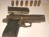 Illegal Firearm and ammunition seized in Nevis 09Jun2016