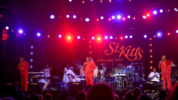 The O'Jays performing at the 20th Annual St. Kitts Music Festival.