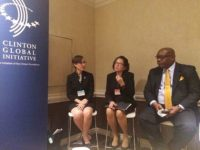 First Lady Mrs. Sandra Granger at the Clinton Global Initiative panel forum