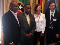 Dr. Gardener (left) and Minister Liburd (2nd from left) along with officials from GIZ