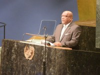 Prime Minister Dr. the Honourable Timothy Harris addresses the 71st Session of the United Nations General Assembly in New York